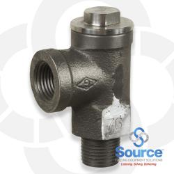 1/2 Inch NPT Ductile Iron 50 PSI Expansion Relief Valve With Stainless Cap