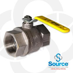 2 Inch Full Port Brass Ball Valve With Stainless Steel Ball And Stem, 500 WOG