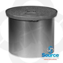 12 Inch Manhole Cast Iron Finger Grip Lid With 11-1/4 Inch Skirt