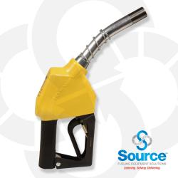 11A Series Yellow B5 Diesel Automatic Nozzle With 3/4 Inch NPT Inlet, 2-Piece Hand Insulator, And Aluminum Spout, Without Hold-Open Rack. UL 2586 Listed.