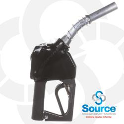 11BP-0400 - 11BP Series Black E10 Unleaded Pressure-Sensing Automatic Prepay Nozzle With 3/4 Inch NPT Inlet, Aluminum Spout, And 2-Position Hold-Open Rack.