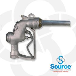 Bare Automatic Shut-Off Bulk Fueling Nozzle With 1-1/2 Inlet, Aluminum Body, Stainless Main Stem, Replaceable Spout, And 2-Position Hold-Open Device. NSN 4930-01-290-0756.