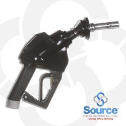 12VW Series Black E10 Unleaded Vac-Assist Vapor Recovery Nozzle For Gilbarco VaporVac And Wayne WayneVac, With M34 Inlet, Aluminum Spout With Stainless Tip, 2-Piece Hand Insulator, Vapor Escape Guard, And Hold-Open Rack. UL/ULC And CARB Certified.