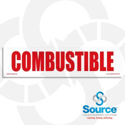 12 Inch X 3 Inch Decal - Combustible