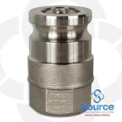 2 Inch Kamvalok X 2 Inch Female NPT Poppeted Remote Fill Adapter Stainless Steel With Flurocarbon Seals
