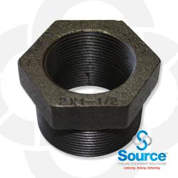 2 Inch X 1-1/2 Inch X 1-1/2 Inch Double Tapped Bushing Evr Approved