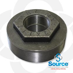 4 Inch X 1-1/2 Inch X 1-1/2 Inch Double Tapped Bushing Evr Approved