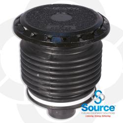 5 Gallon Vapor/Spill Containment Manhole Duratuff Ii Base With Cast Iron Cover With Plug (E85 Approved)