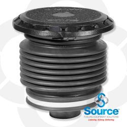 5 Gallon Fill/Spill Containment Manhole Cast Iron Base With Cast Iron Cover With Drain Valve (E85 Approved)