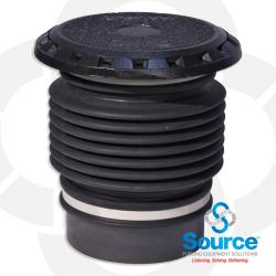 5 Gallon Vapor/Spill Containment Manhole Duratuff Base With Cast Iron Cover Slip On With Plug