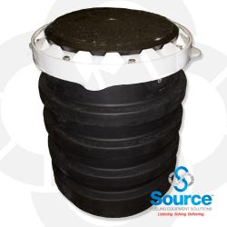 5 Gallon Edge Single Wall Spill Containment Manhole With Cast Iron Cover And Drain Valve (E85 Approved)