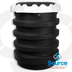 5 Gallon Edge Double Wall Spill Containment Manhole With Drain Valve Cast Iron Cover (E85 Approved)