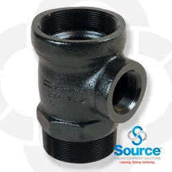 4 Inch X 2 Inch X 4 Inch Extractor Tee No Cage (E85 Approved)