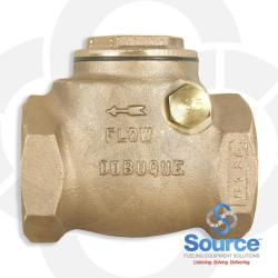 2 Inch Swing Check Valve - Threaded Brass With Thermal Expansion Relief At 25 Psi