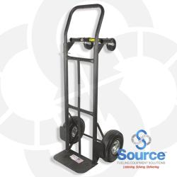 Convertible Hand Truck With 10 Inch Pnuematic Wheels 800 Pound Capacity