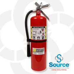 10 Pound Fire Extinguisher With Inspection Tag & Mounting Bracket