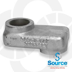 1-1/2 Inch Female NPT x 3 Inch Shorty Offset Adapter