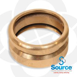 4 Inch Tight Fill Adapter Top Seal Without Lugs - Brass