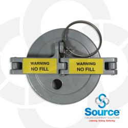 4 Inch EVR Approved Tank Monitoring Cap With 1/2 Inch Hole