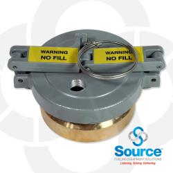 4 Inch Evr Approved Tank Monitoring Cap/Adapter Combination With 1/2 Inch Hole
