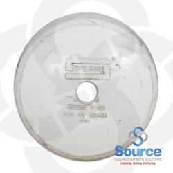 4 Inch PVC Vapor Sensor Riser Cap With 1/2 Inch Threaded Opening