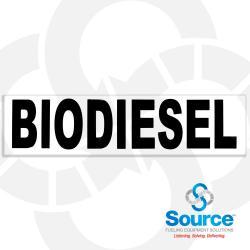 3 Inch x 12 Inch Decal, Black on White - Biodiesel