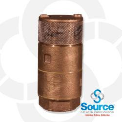 1-1/2 Inch Double Poppet Foot Valve