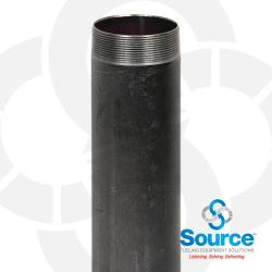 4 Inch NPT Male x 7 Inch x 0.188 Inch Black Steel Submersible Pump Riser Pipe Nipple