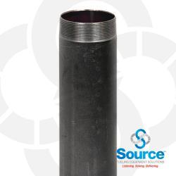 4 Inch NPT Male x 12 Inch x 0.188 Inch Black Steel Submersible Pump Riser Pipe Nipple