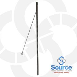 5 Foot 1-Piece Tank Gauge Stick With 40 Inch Hinged Aluminum Wire Handle, 4-Sided Scale 518/550/1082 (GP5-4C)