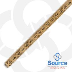 14 Foot 4-Section Folding Lock Joint Tank Gauge Stick Dual Inch/Foot Scale 44 Inch Stored Length