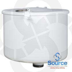 2 Inch 5 Gallon Male Threaded Spill Container With Drain Offset Coated White