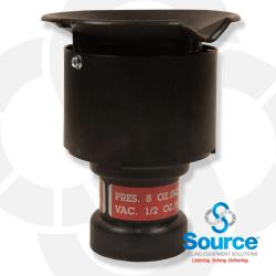2 Inch Pressure Vacuum Vent Thread On 8 Ounce Pressure 1/2 Ounce Vacuum