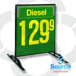 40 Inch x 48 Inch Single-Product Double-Sided Quick Flip Ground Stand Aluminum Price Sign- #'S (One Box For Stand And One Box For Sign)