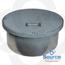 24 Inch Manhole-Watertight Steel With Recessed Handle 10-3/4 Inch Skirt (Skirt Id 21-5/8 Inch)