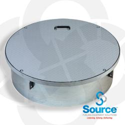 42 Inch Manhole-Watertight Steel With Recessed Handle 10-3/4 Inch Skirt (Skirt Id 39-5/8 Inch)