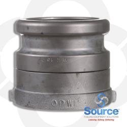 4 Inch Nickel Plated E85 EVR Approved Fill Swivel Adapter