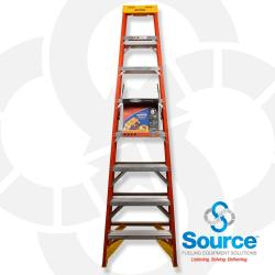 Stepladder Fiberglass 8 Foot Height 300 Pound Capacity