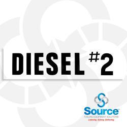 6 Inch x 24 Inch Decal, Black On White - Diesel #2