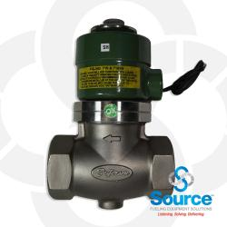 2 Inch Solenoid Valve Stainless Steel Teflon With 120 Volt/60 Hz Ac Coil