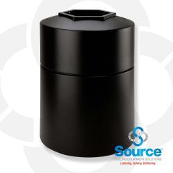 45 Gallon Round Waste Container (Black)