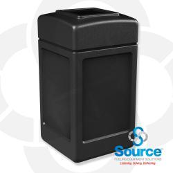 42 Gallon Black Square Waste Container