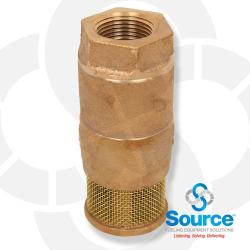 3/4 Inch Double Poppet Brass Foot Valve