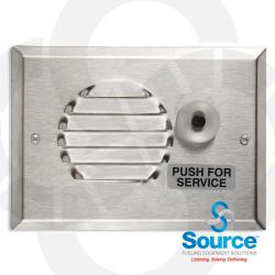 Speaker With Call Switch Assembly - Stainless Steel