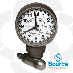 2 Inch Clock Gauge Drop Tube Float Evr
