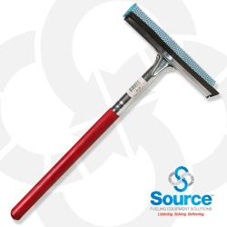 8 Inch Squeegee Head With 12 Inch Wood Handle