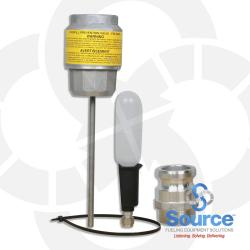 2 Inch Overfill Prevention Valve With Part F Male Threaded Aluminum