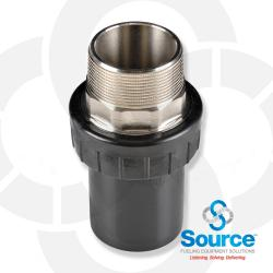2 Inch UPP x 2 Inch Male NPT Termination Fitting UL-971 Listed