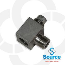 1/2 Inch NPT Stainless Steel Horizontal Priming Tee With Plug