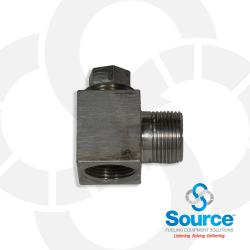 3/4 Inch NPT Stainless Steel Horizontal Priming Tee With Plug